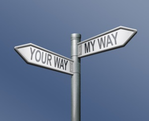 illustration-your-way-my-way-street-signs
