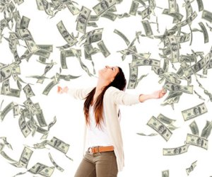 woman-with-money-falling-from-ceiling