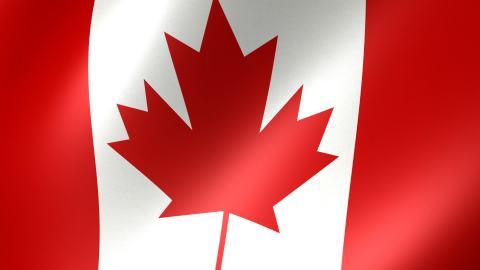 canadian flag-Stock video JPEG