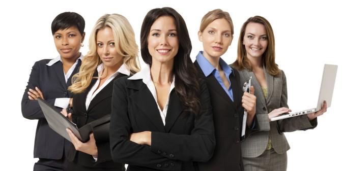 Businesswomen on White