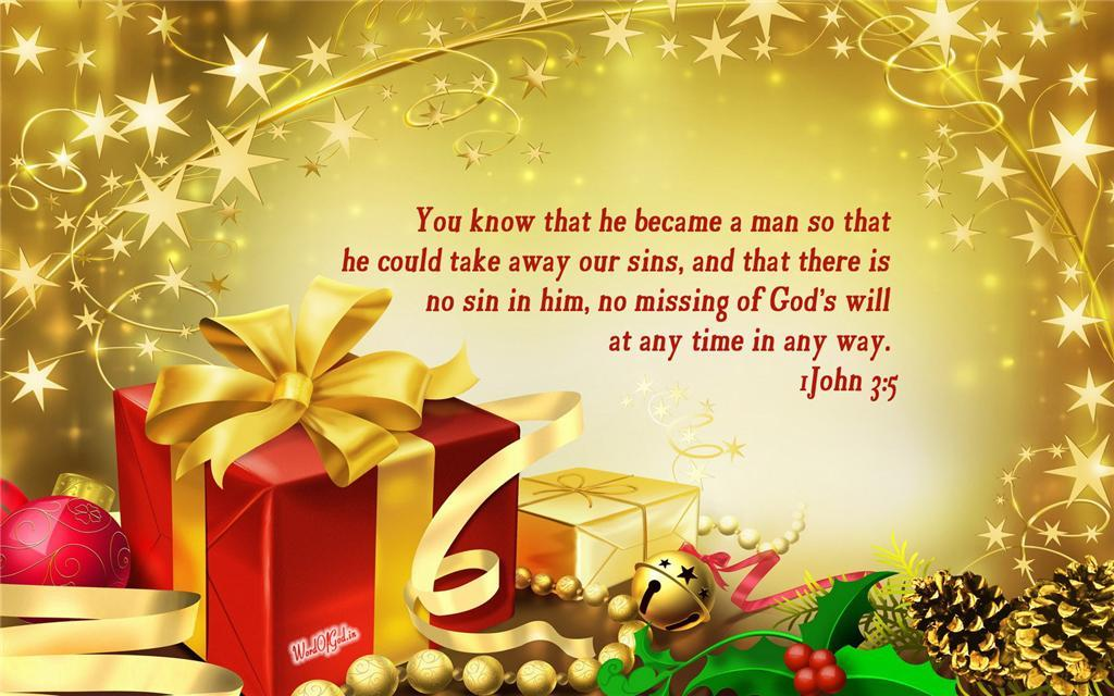 Christmas Desktop Bible Verse Wallpaper