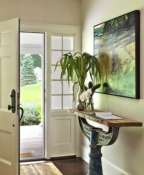 Unique-narrow-entryway-table