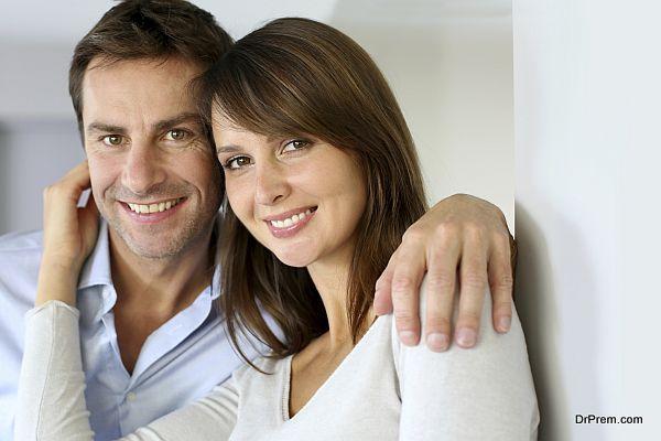 Middle-aged couple portrait