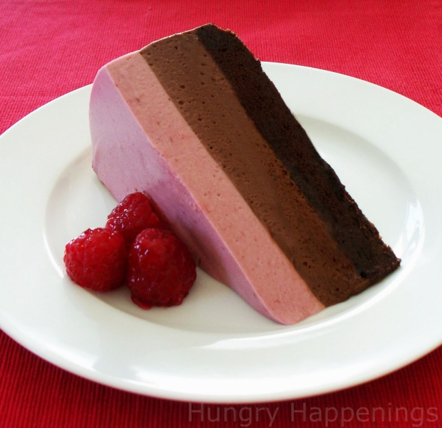 Valentine's Day dessert, chocolate raspberry mousse cake copy