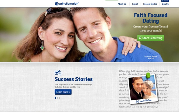 halfway catholic women dating site Inside matchcom it's all about the the world's largest online dating site petite catholic women are especially unlikely to e-mail a hindu or atheist male.
