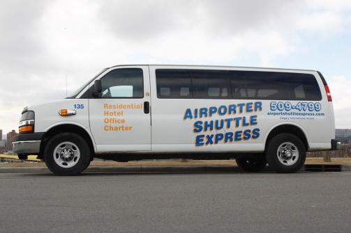 Airport Shuttle Express passenger van. PHOTO/Mike Sturk)