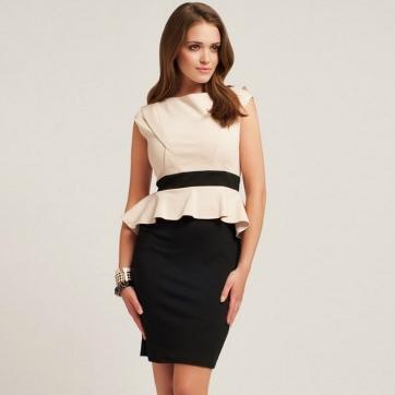 New-Arrival-2013-Spring-Fashion-Women-s-Sleeveless-Peplum-Elegant-Dress-Career-Dresses-KM255-Wholesale