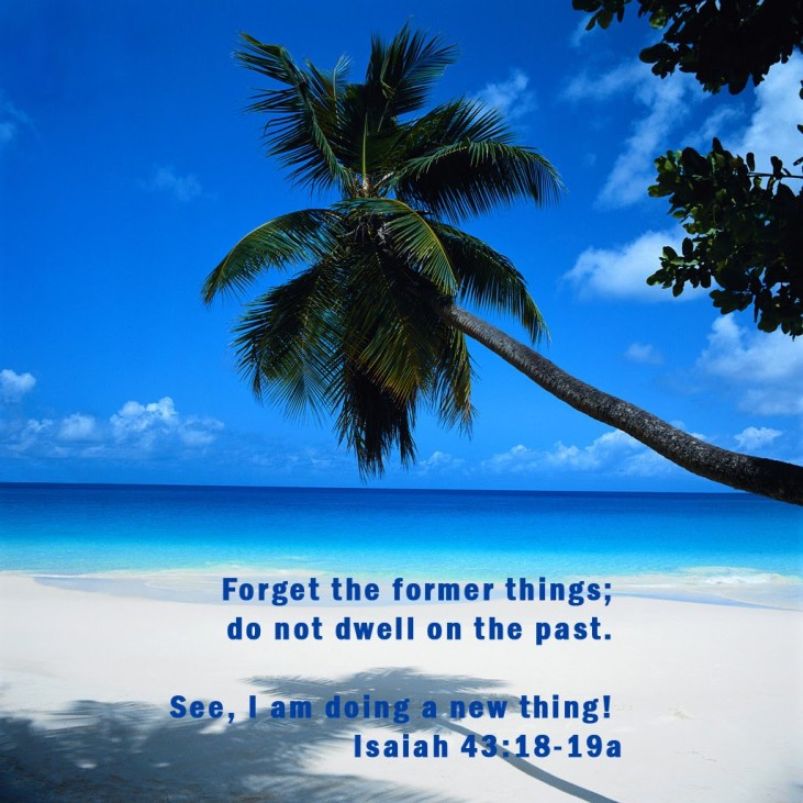 Beach with scripture copy
