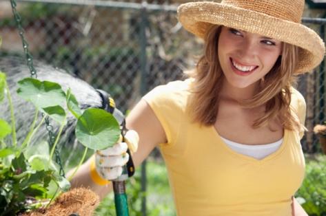 happy-woman-gardening