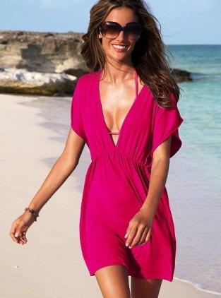 Hot-pink-summer-beach-dress-for-women-formal-Victoria-design-dresses-more-colors-