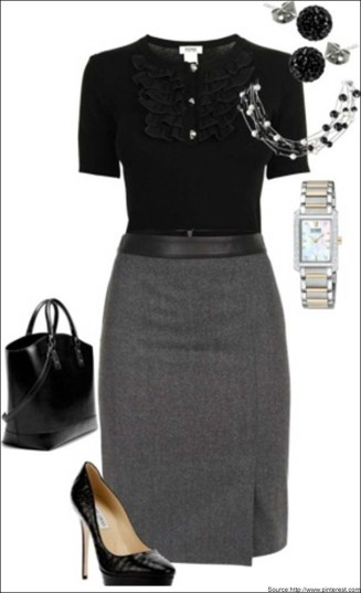 blouses-and-shirts-for-the-formal-black-pencil-skirt