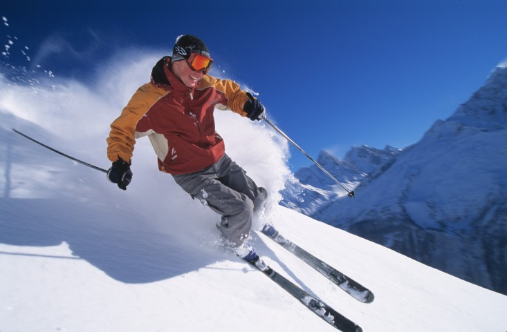 Skier --- Image by © Royalty-Free/Corbis